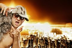 glamorous rapper stylish Στοκ Εικόνες