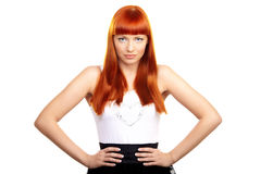 Glamorous redhead woman Royalty Free Stock Photo