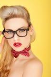 Glamorous retro blonde fashion model Royalty Free Stock Photography