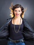 Glamorous rocker girl Stock Images