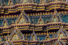Glamorous roof structure of buddhist temple Royalty Free Stock Image