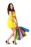 Glamorous shopper Stock Photos