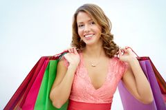 Glamorous shopper Stock Photo