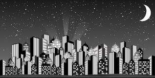 Glamorous Skyline. Inspired from old fifties stock illustration