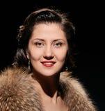 Glamorous smiling lady portrait Stock Image