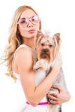 In glamorous style. Royalty Free Stock Photo