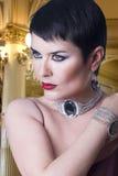 Glamorous stylish woman Royalty Free Stock Images