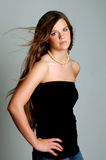 Glamorous Teenager. Gorgeous teenager posing in a glamour portrait Stock Photography