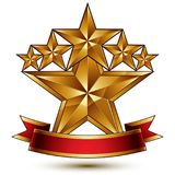 Glamorous vector template with pentagonal golden stars, best for Royalty Free Stock Photo