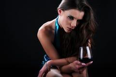 Glamorous wine tasting Royalty Free Stock Image