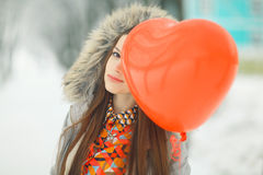 Glamorous winter portrait of a girl Stock Image