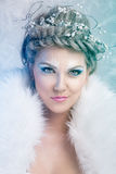 Glamorous winter queen. With art make up Royalty Free Stock Image