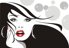 Glamorous Woman Background Royalty Free Stock Image
