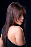 Glamorous woman with beautiful hair Royalty Free Stock Images