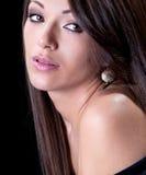 Glamorous woman with beautiful hair Stock Photos