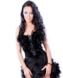 Glamorous woman with black dress Royalty Free Stock Photo