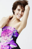 Glamorous woman in dress Stock Photography