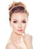 Glamorous Woman Fashion Model with Elegant Hair Royalty Free Stock Photography