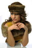 Glamorous woman with hat Royalty Free Stock Image