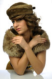 Glamorous woman with hat Stock Image