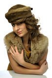 Glamorous woman with hat Royalty Free Stock Photo