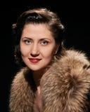 Glamorous woman Hollywood portrait Stock Photo