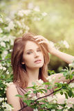 Glamorous Woman with Makeup Outdoor. S Royalty Free Stock Photos