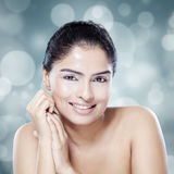 Glamorous woman with natural skin Royalty Free Stock Photo