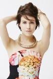 Glamorous woman posing, portrait Royalty Free Stock Photography
