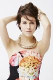Glamorous woman posing, portrait Royalty Free Stock Images