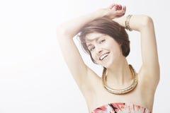 Glamorous woman posing, studio Royalty Free Stock Photography