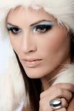 Glamorous woman with professional makeup Royalty Free Stock Photos