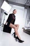 Glamorous woman in underwear Stock Photography