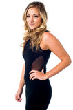 Glamorous woman wearing transparent dress Stock Photos