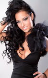 Glamorous Woman With Black Dress
