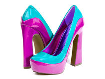 Glamorous womens high heel shoes Stock Image