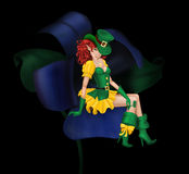 Glamorous, young, sexy girl leprechaun Stock Image