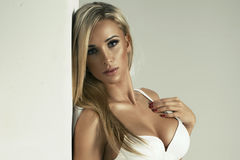 Glamorous young sexy woman Royalty Free Stock Photography