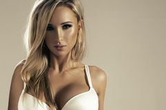 Glamorous young sexy woman Stock Photos