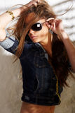 Glamorous young woman royalty free stock photos