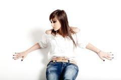 Glamorous young woman Stock Photos