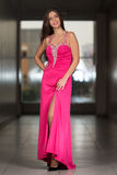 Glamorous Young Woman In Elegant Style Dress Royalty Free Stock Images