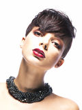 Glamorous young woman - stylish fashion model Royalty Free Stock Images