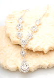 Glamorousl diamond necklace Stock Photos