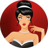 Glamorös brunett Royaltyfri Bild