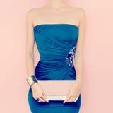 Glamorös lady Aftonklänning Royaltyfri Bild