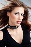 Glamour. Fashion portrait of a young attractive woman Stock Images