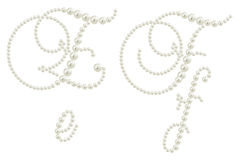 Glamour alphabet made from pearls Royalty Free Stock Photos