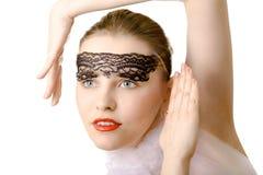 Glamour artistic woman closeup Royalty Free Stock Photo