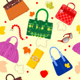 Glamour Bag Pattern Royalty Free Stock Image